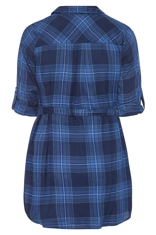 LIMITED COLLECTION Blue Belted Check Shirt