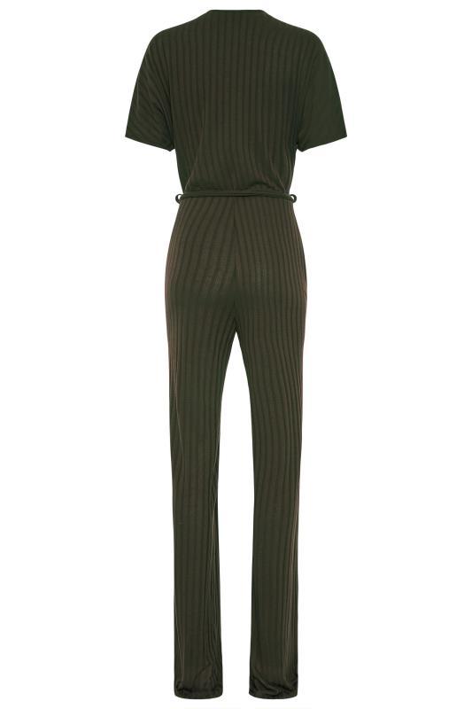 LTS Khaki Ribbed Wrap Jumpsuit_BK.jpg