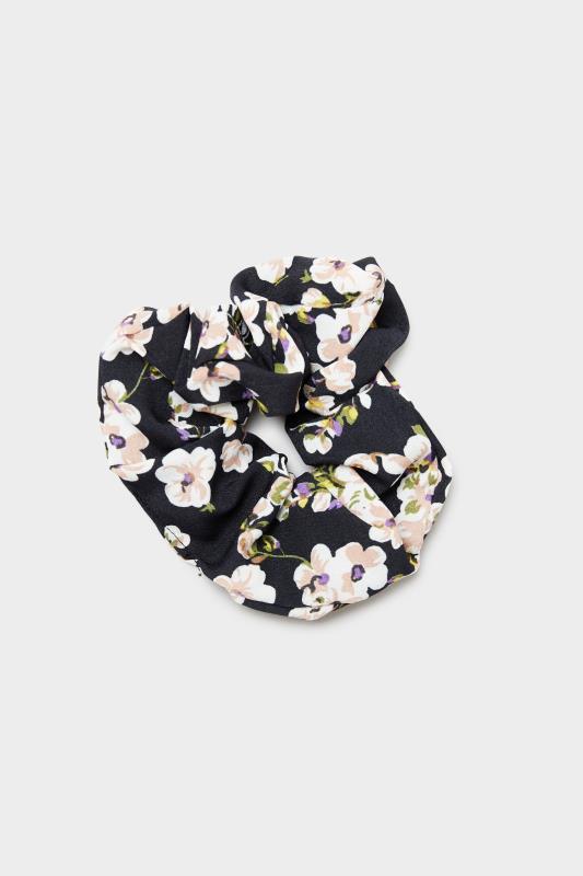 3 Pack Pink and Black Floral Scrunchie Set_C.jpg