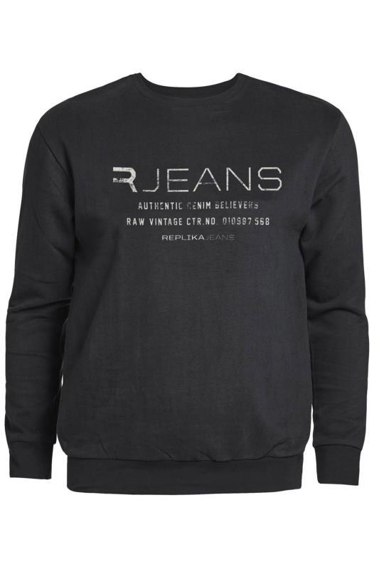 Men's Casual / Every Day REPLIKA Black Printed Sweatshirt
