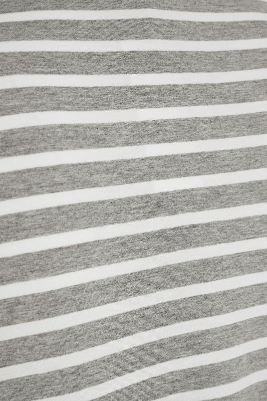 BUMP IT UP MATERNITY Grey & White Stripe Nursing Top_S.jpg