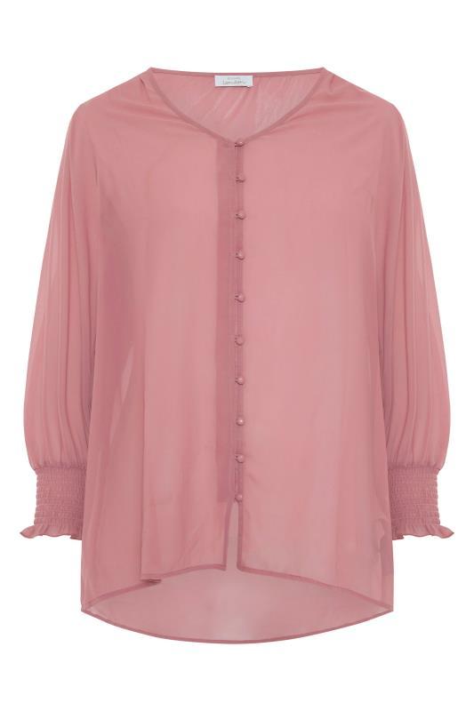 YOURS LONDON Pink Balloon Sleeve Shirt_F.jpg