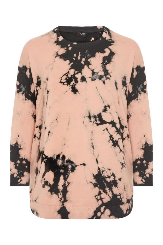 Pink Tie Dye Co-ord Sweatshirt