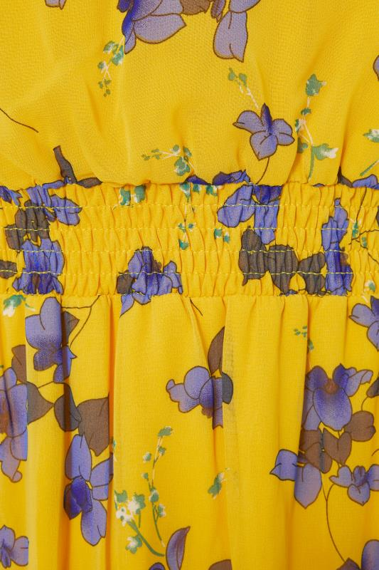 LTS Yellow Shirred Waist Chiffon Midi Dress_s.jpg