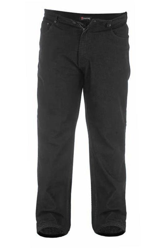 Men's  D555 Black Comfort Fit Jeans