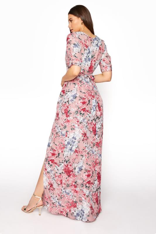 LTS Pink Floral Wrap Front Maxi Dress_C.jpg