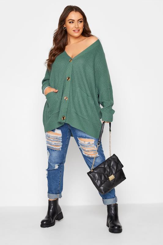 Green Button Knitted Cardigan_B.jpg