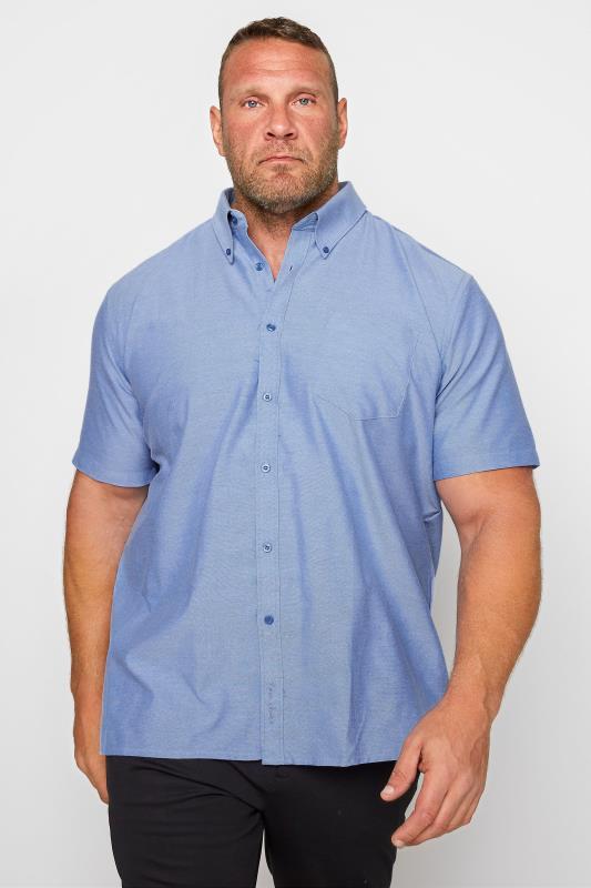 KAM Blue Oxford Short Sleeve Shirt_A.jpg