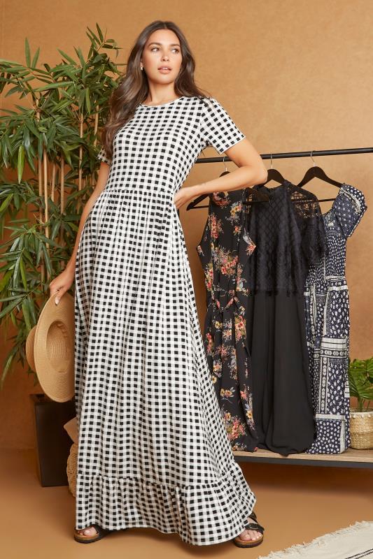 LTS Black Gingham Tiered Maxi Dress_L1.jpg