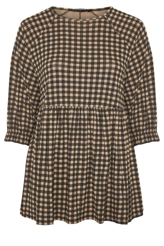 LIMITED COLLECTION Natural Gingham Smock Top_F.jpg