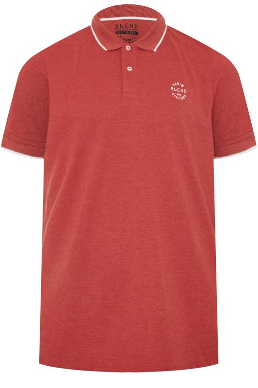 Men's Polo Shirts BLEND Red Polo Shirt