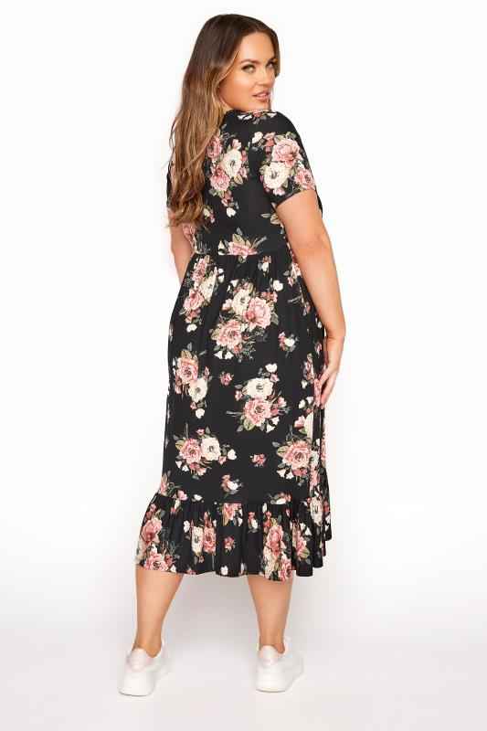 LIMITED COLLECTION Blush Rose Floral Tiered Midaxi Smock Dress_C.jpg