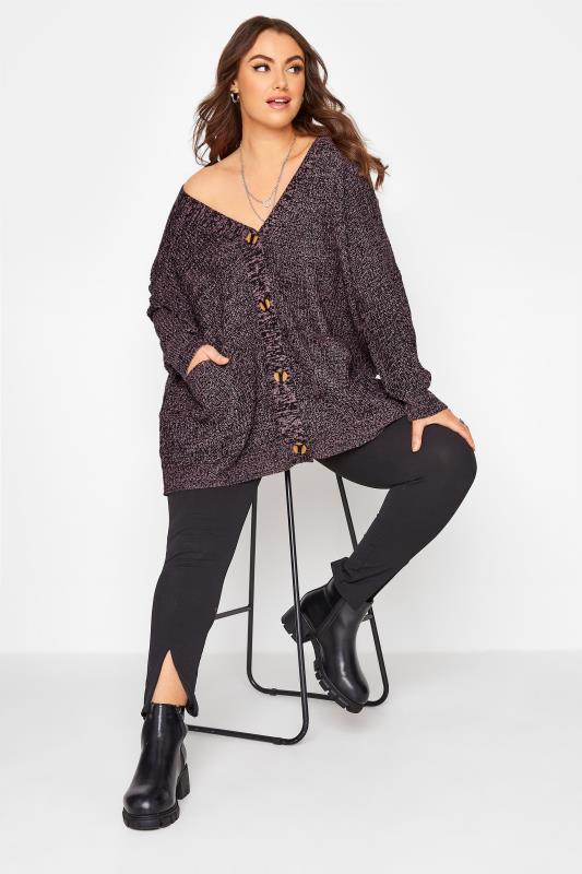 Purple Button Knitted Cardigan_B.jpg