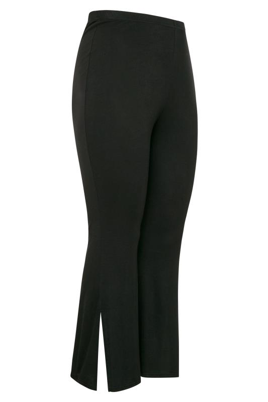 Black Flared Split Hem Leggings