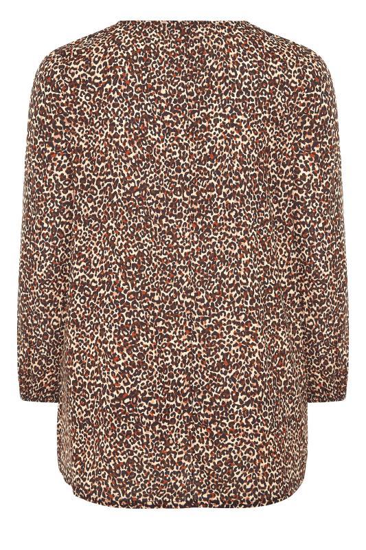 YOURS LONDON Brown Leopard Print Blouse_BK.jpg