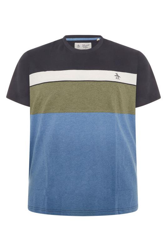 Plus Size  PENGUIN MUNSINGWEAR Navy Colourblock T-Shirt