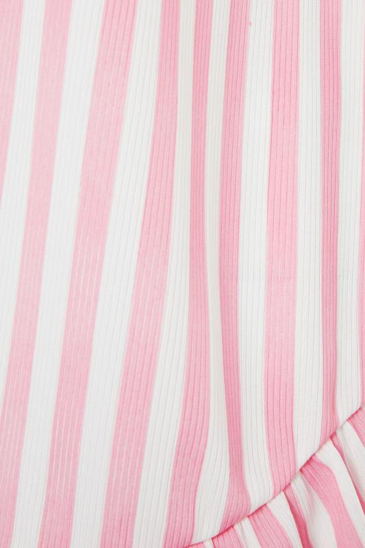 LIMITED COLLECTION Pink Stripe Frill Pyjama Top_s.jpg