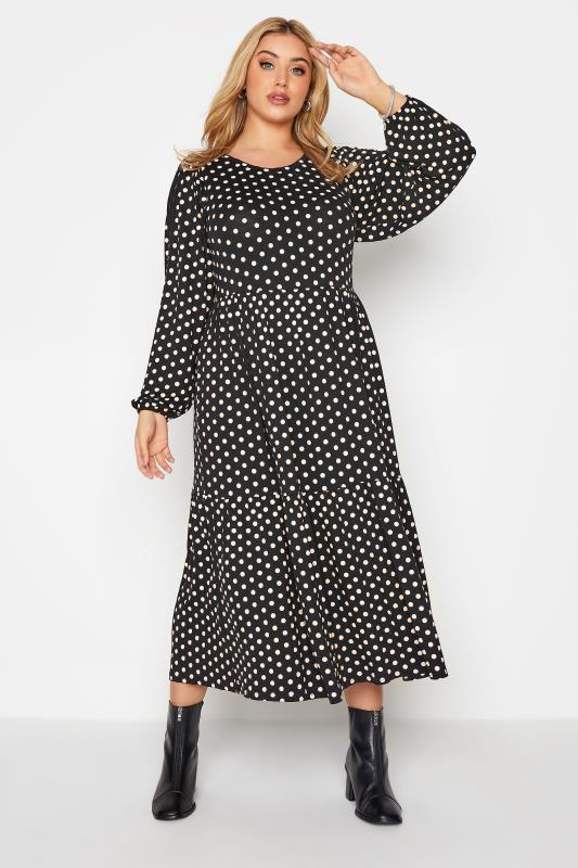 Black Polka Dot Tiered Midaxi Dress_B.jpg