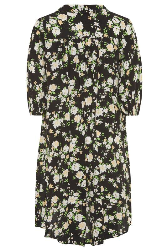 THE LIMITED EDIT Black Floral Pleated Dress_BK.jpg