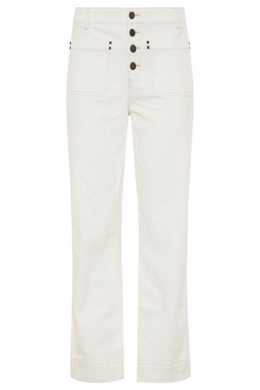 Ecru Kick Flare Crop Jeans