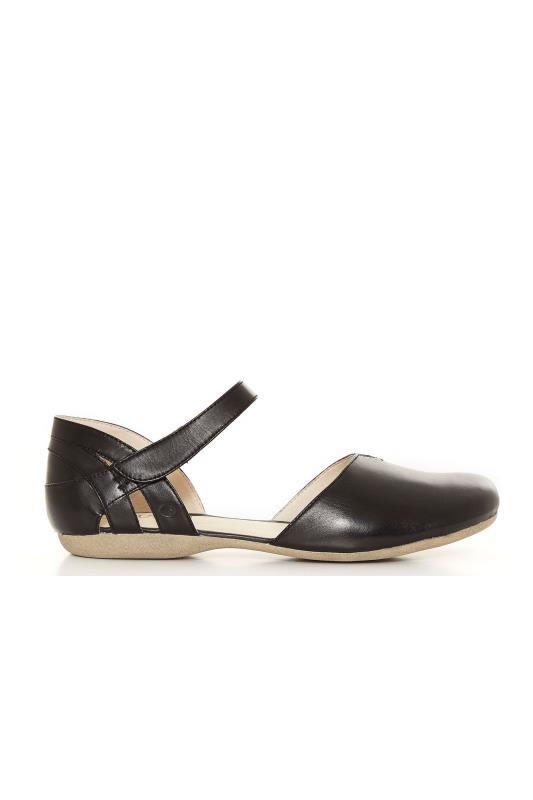 JOSEF SEIBEL Black Leather Sandals