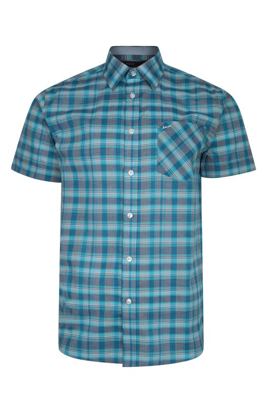 Men's  KAM Aqua Casual Check Shirt