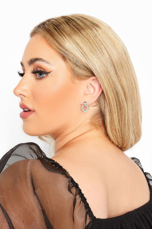 Plus Size  6 PACK Mixed Silver Hoop & Stud Earrings Set