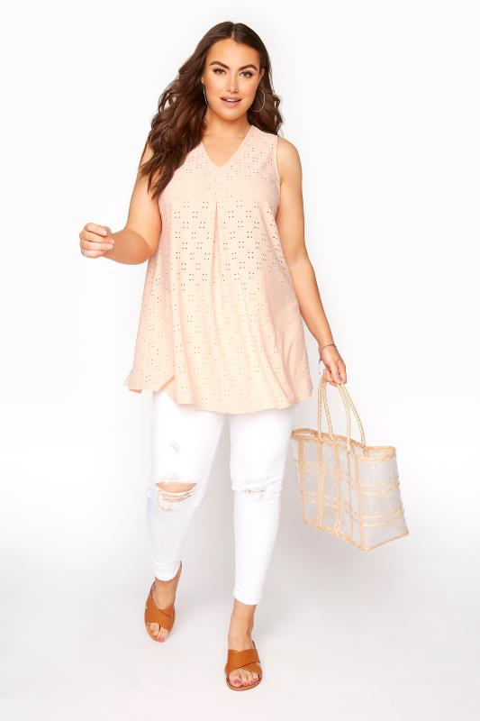 Pink Broderie Anglaise Swing Top