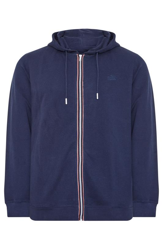 Tallas Grandes BLEND Navy Zip Through Sweat Hoodie