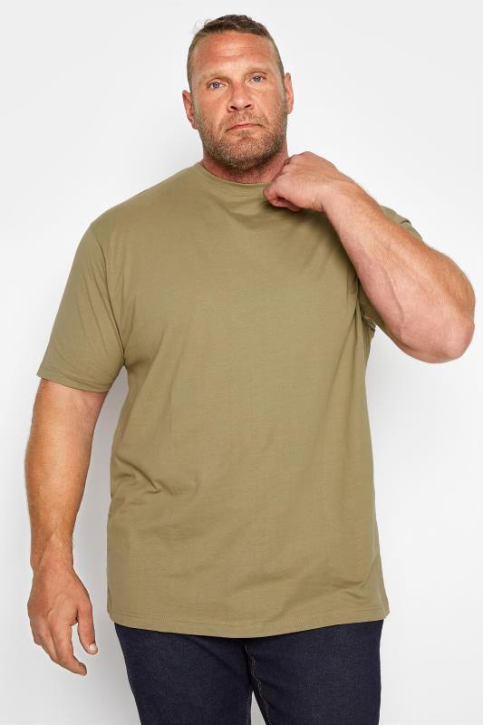 Men's T-Shirts KAM Olive Plain T-Shirt