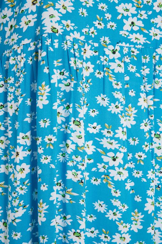 LIMITED COLLECTION Blue Daisy Tiered Smock Dress_S.jpg