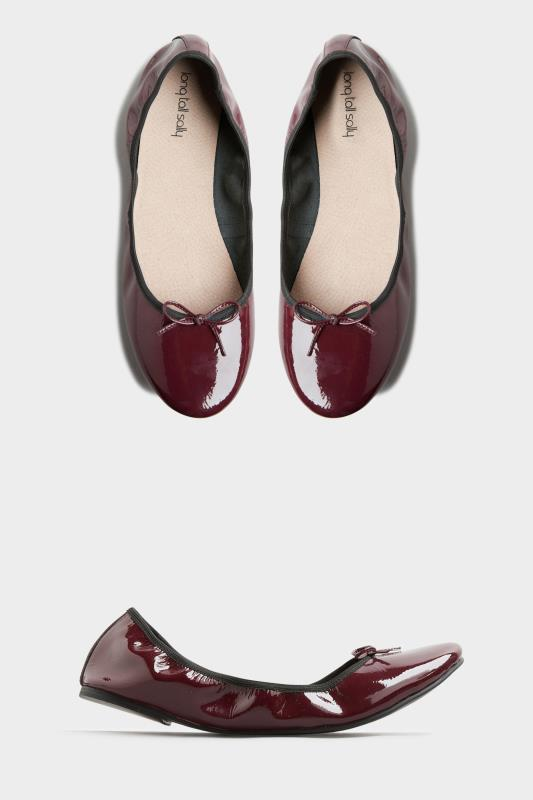 Tall  Burgundy Supersoft Leather Ballerina