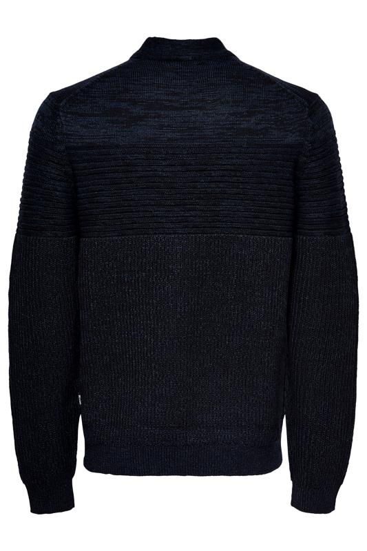 Plus Size Jumpers ONLY & SONS Black Lazlo Knitted Jumper