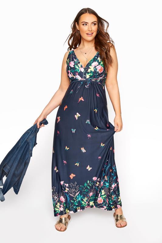 Navy Butterfly Maxi Dress_B.jpg
