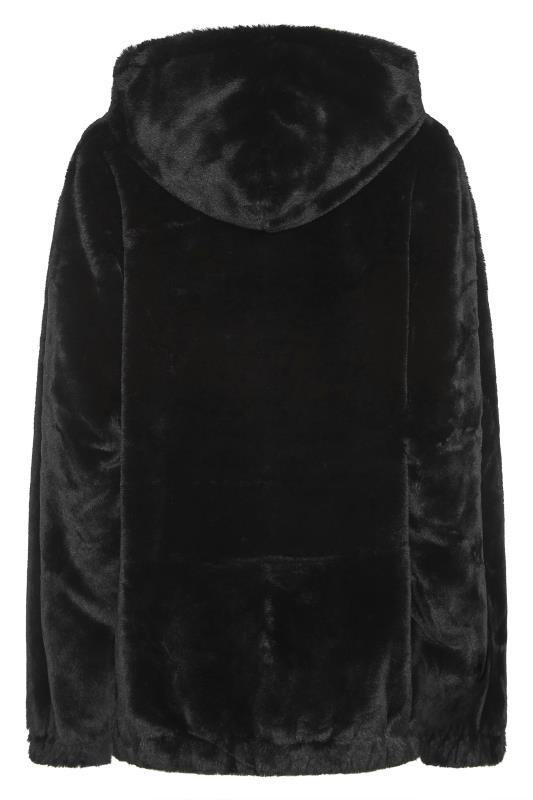 LTS Black Oversized Faux Fur Jacket_BK.jpg
