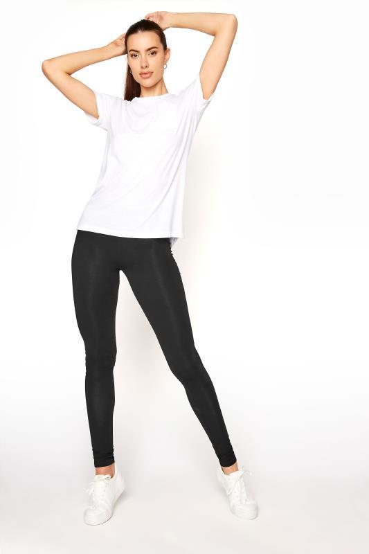 LTS SUSTAINABLE Black Recycled 'Lenzing' Viscose Leggings_A.jpg