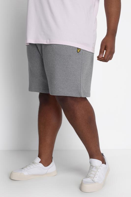 LYLE & SCOTT Grey Jogger Shorts_A.jpg