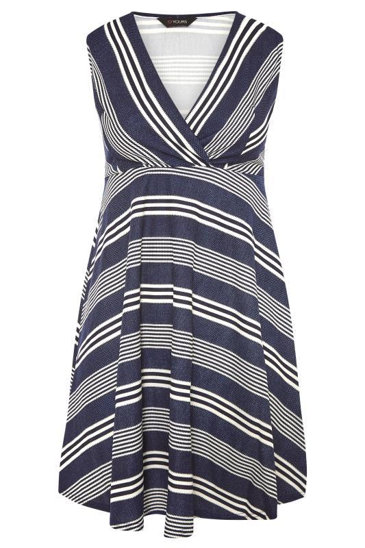 Blue Stripe Wrap Skater Dress_F.jpg