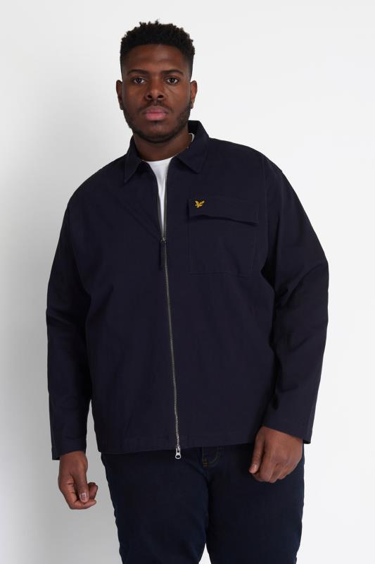 Plus Size  LYLE & SCOTT Navy Twill Jacket