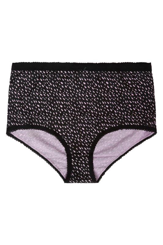 5 PACK Pink & Black Abstract Print Full Briefs_B.jpg