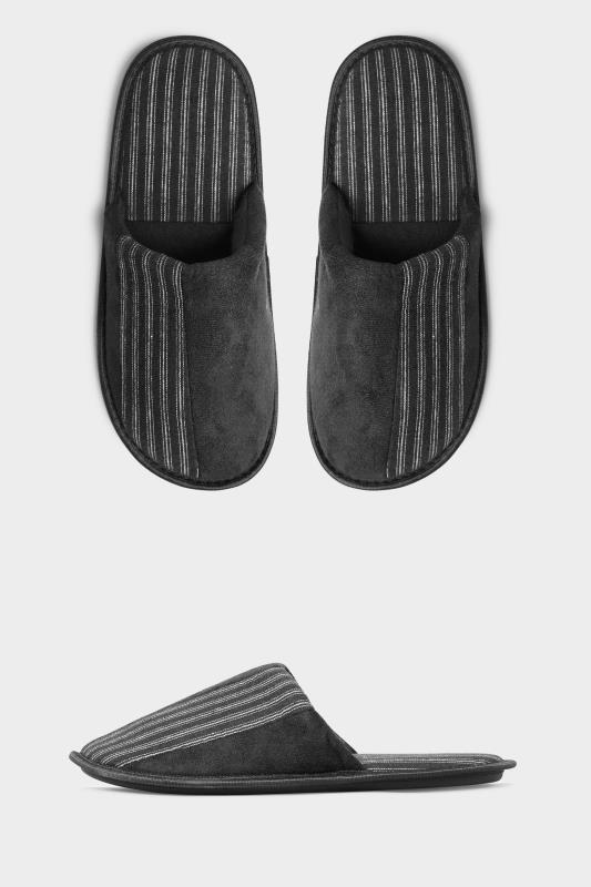 Men's  BadRhino Black Stripe Mule Slippers