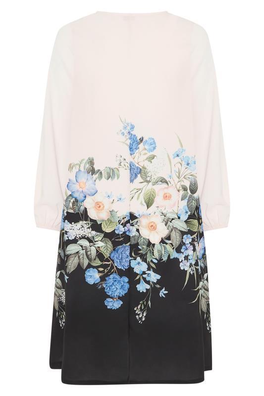 YOURS LONDON White Floral Border Shift Dress_BK.jpg