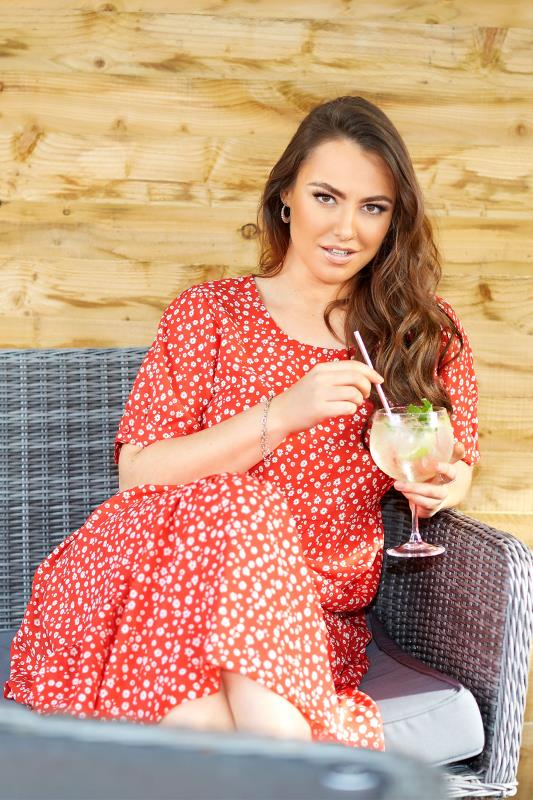 LIMITED COLLECTION Red Daisy Print Tiered Maxi Dress_L.jpg