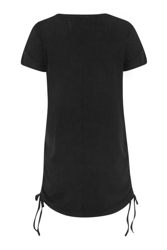 LTS Black Ribbed Ruched Side Tunic_BK.jpg