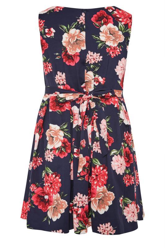 Navy Floral Print Skater Dress_BK.jpg