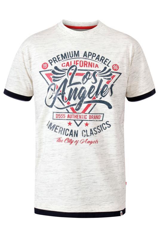 Men's  D555 White Los Angeles Printed T-Shirt