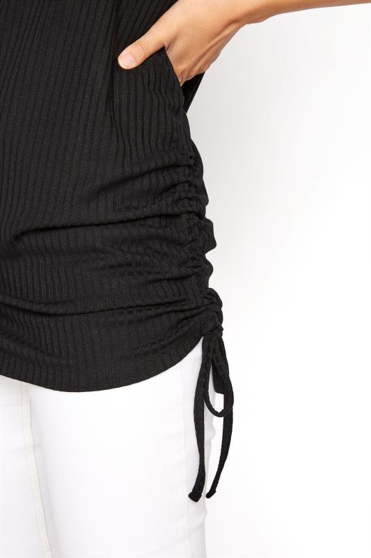 LTS Black Ribbed Ruched Side Tunic_D.jpg