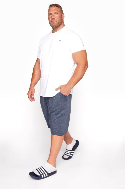 BadRhino Denim Blue Essential Jogger Shorts
