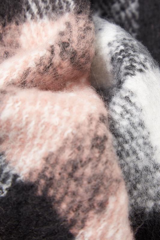 Pink & Grey Super Soft Check Scarf_D.jpg