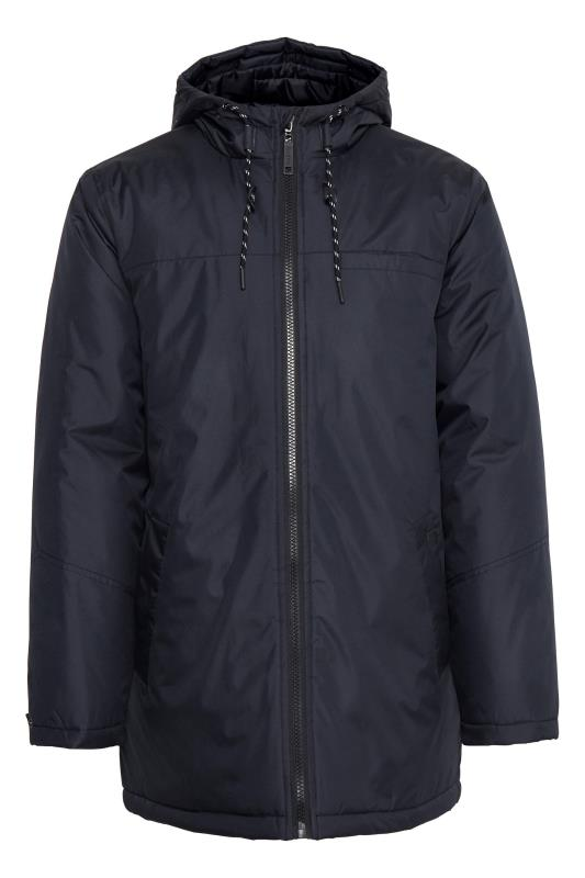 Plus-Größen Casual / Every Day BLEND Navy Hooded Coat